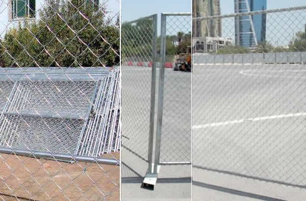 Chain Link Mesh Temporary Fence Panels Galvanised Powder